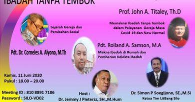Litbang Silo Kembali Gelar Diskusi Online 2 Bahas : IBADAH TANPA TEMBOK